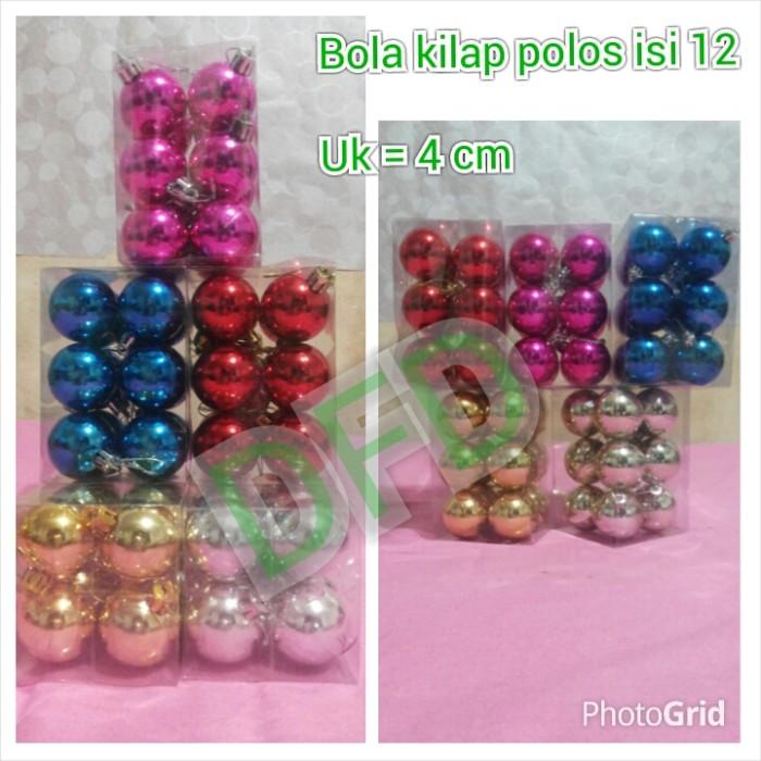 harga Aksesoris natal / ornamen natal ( bola natal isi 12 ukuran : 4 cm) Tokopedia.com