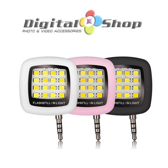 Foto Produk Smartphone LED flash light & fill-light flashlight for selfie - Black - Hitam dari Toko Digital Shop
