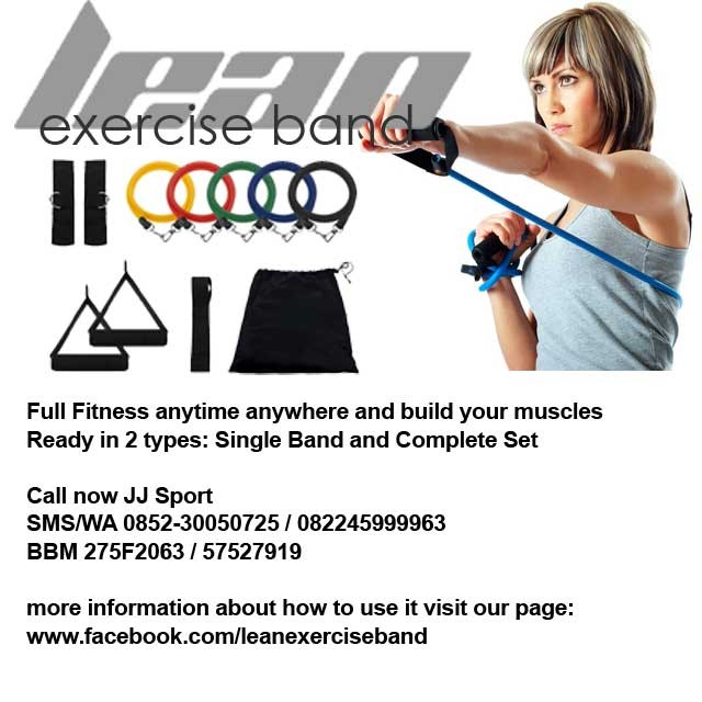 harga Leb - lean exercise band alat fitness portabel complete set Tokopedia.com