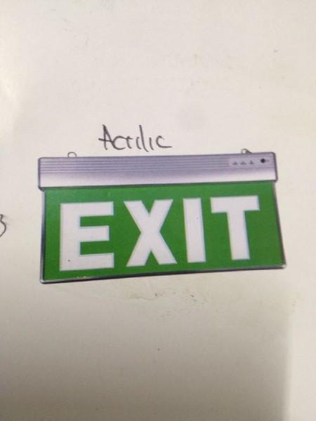 Jual Lampu Exit Lamp Emergency Exit Sign Lamp Acrylic Lampu Emergency Exit - Sumber Hidup   Tokopedia