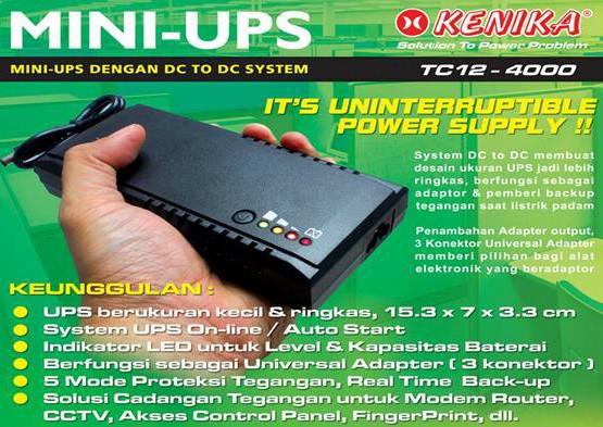 Jual MINI UPS TC12-4000 (ZK-023) - Kota Surabaya - First Komputer    Tokopedia