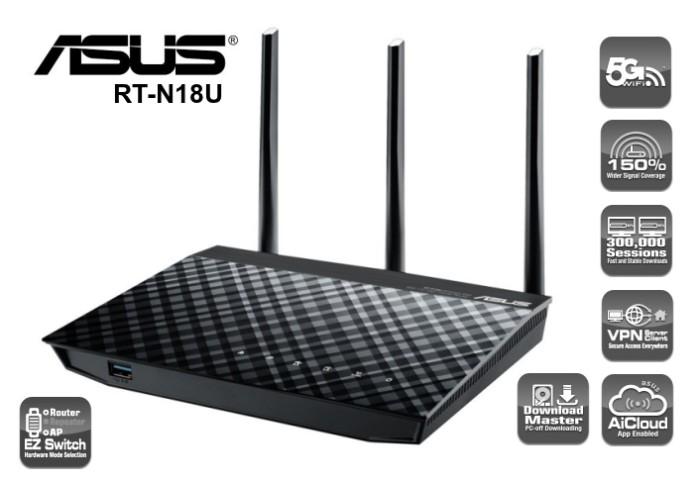 harga Asus 3 in 1 wireless-n router rt-n18u Tokopedia.com