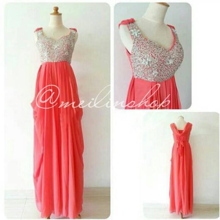 Jual Gaun Pesta Longdress Import Baju Pesta Chiffon Dress Panjang