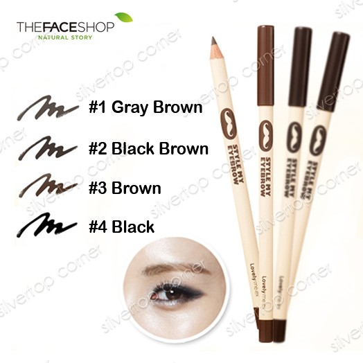 Jual The Face Shop Lovely Meex Style My Eyebrow Black Silvertop