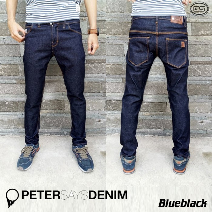 Foto Produk PSD blue black | Celana | jeans | denim - Hitam, 27 dari Grosir Bandung