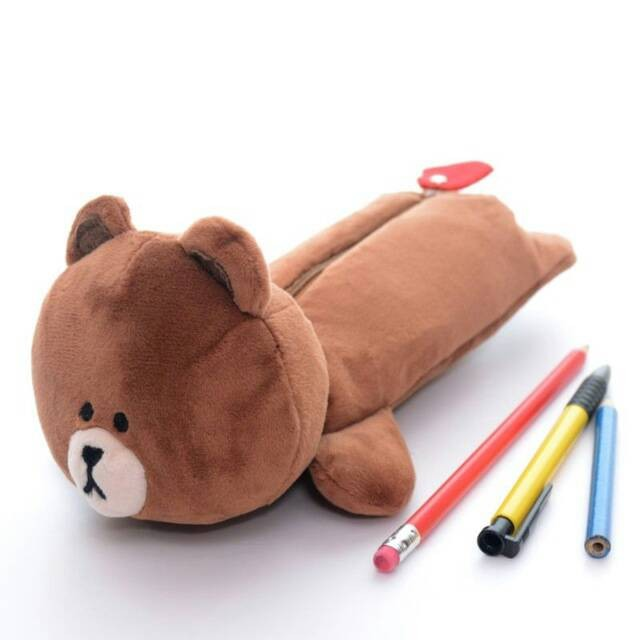 Tempat Pensil/ Pencil Case Boneka LINE BROWN