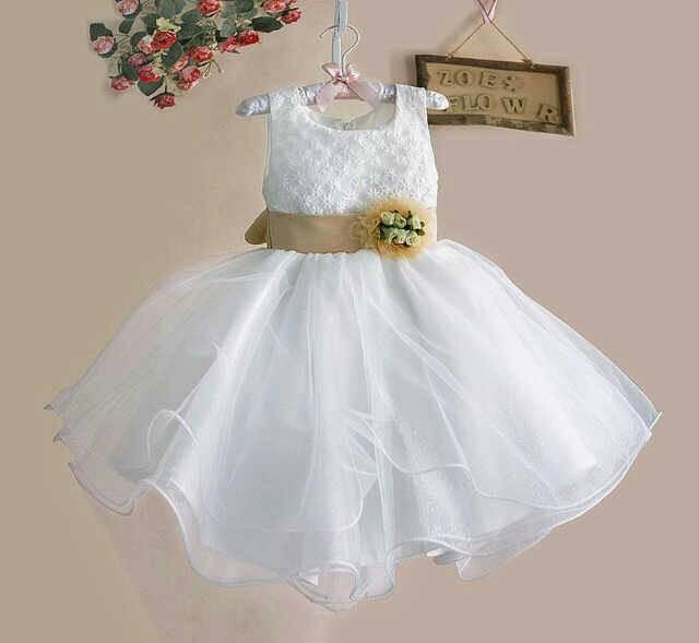 harga Girl dress zoe broken white pita gold Tokopedia.com