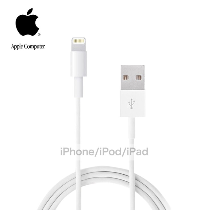 harga Usb cable data charger ori 100% iphone 5/s/6/6+ ipad mini ipad Tokopedia.com