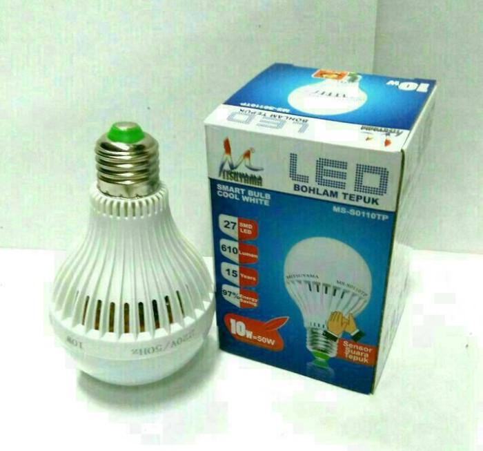 Lampu LED Sensor Tepuk / Bohlam LED Sensor Suara 10 Watt