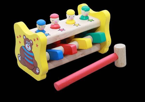 Foto Produk Palu Badut, mainan edukatif edukasi anak kayu balok murah TK Paud SNI dari Edukasi Toys