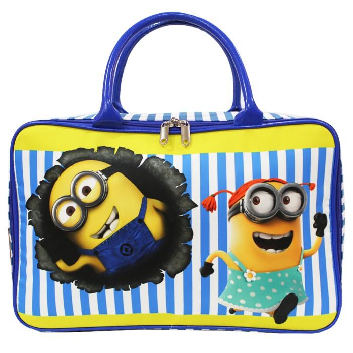 Travel Bag Anak Karakter MINIONS Bahan Kanvas - Biru