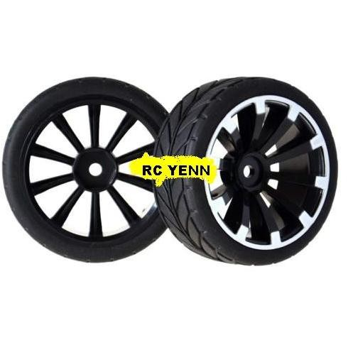 harga Rc on-road 1:10 racing 6mm offst wheel rim tyre flat tires for hsp hpi Tokopedia.com
