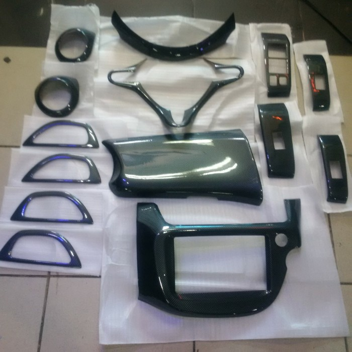 harga Carbon panel interior honda jazz ge8 2009-20113 (14 pcs) Tokopedia.com