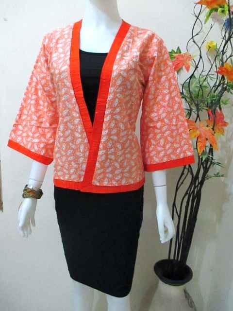 Jual Kimono Cardigan Baju Atasan Batik Kerja Baju Wanita Modern Cek Harga Di Pricearea Com