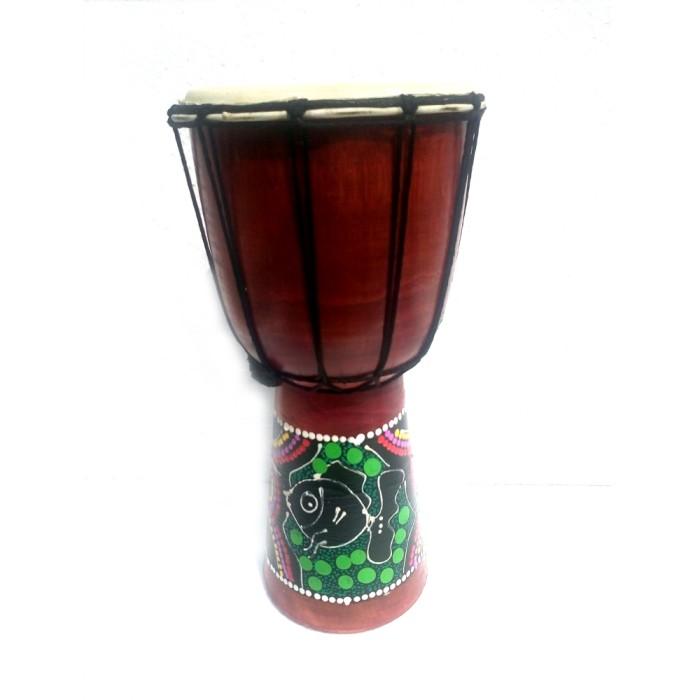 Kerajinan miniatur alat musik jimbe - 30x16x16 cm