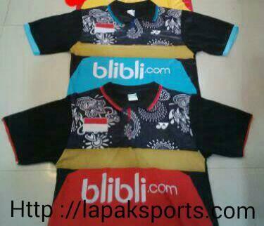 harga Kaos bulutangkis badminton lining 64 kerah lokal Tokopedia.com