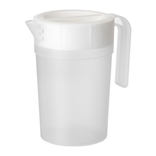 harga Ikea jamka pitcher /container minuman tertutup, 1.7l, putih transparan Tokopedia.com