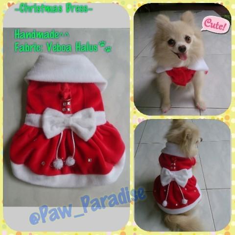 harga Baju pakaian natal anjing kucing cute lucu betina female dress xmas Tokopedia.com