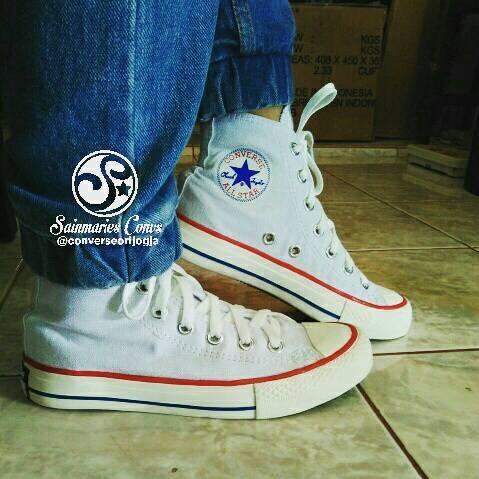 Jual Sepatu Converse All Star Original High White Best Seller - St ... b14a31ab97