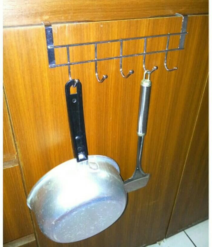 Foto Produk gantungan panci 5 hook stainless dari Asemka Market