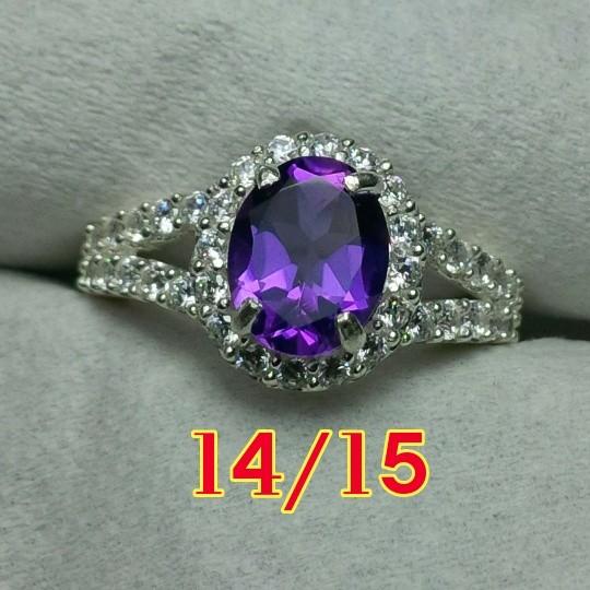 harga Kecubung ungu / amethyst cincin perak wanita  / cewek Tokopedia.com