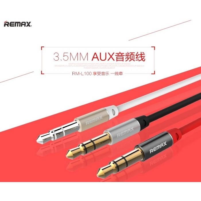 Kabel Audio AUX Remax 3.5mm Cable 1M - Headphone Speaker Smartphone