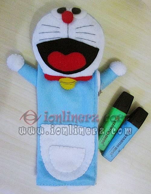 Jual Tempat Pensil Pinsil Flanel Kartun Doraemon Ionlinerz Corp Gambar