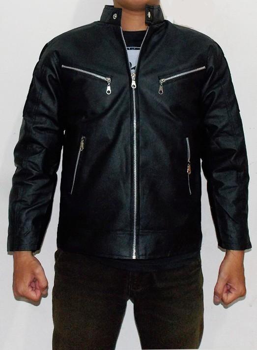 Jaket kulit motor ariel noah - hitam ...
