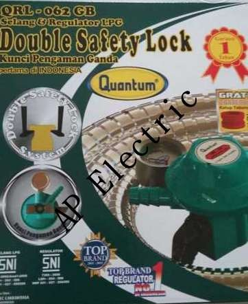 harga Regulator selang kompor gas double safety lock quantum qrl-062 gb Tokopedia.com