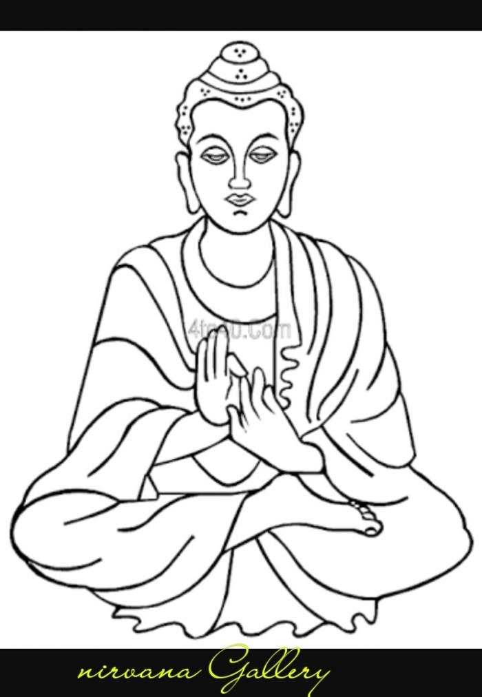 Jual Buku Mewarnai Life Of Buddha Nirvana Gallery Tokopedia