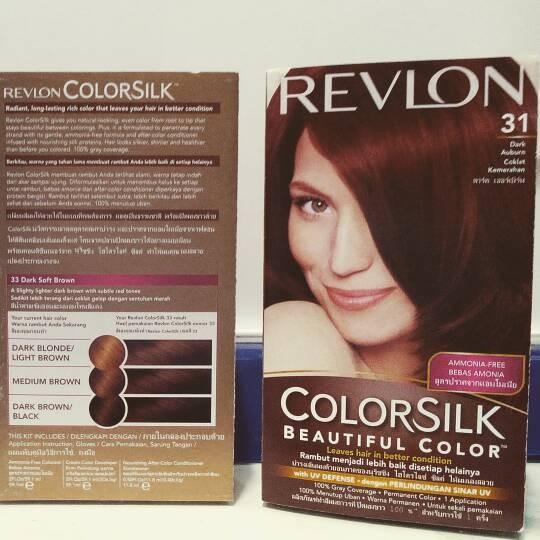 REVLON COLORSILK NON AMONIAK NO30 DARK BROWN CAT RAMBUT HAIR COLOR