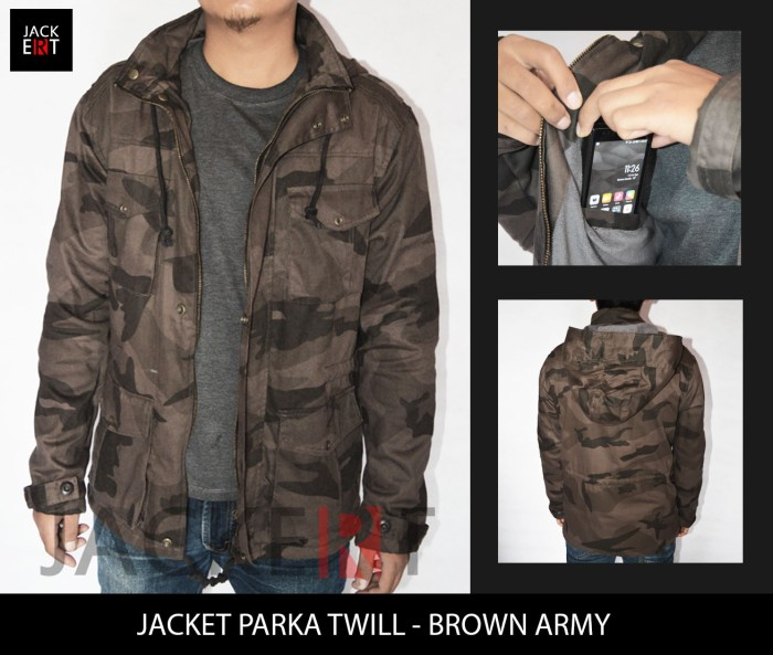 63f80a67bc0 Jual Jaket Army Parka - Brown Camo (JAKERT ORIGINAL) - BEST SELLER ...