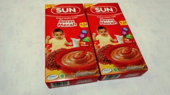Jual Bubur Bayi Beras Merah Sun Sereal Susu 120gr Termurah Umur 6