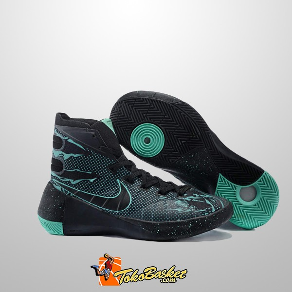 0249898921c6 Jual Sepatu Basket Nike Hyperdunk 2015 Black Green Replika - DKI ...
