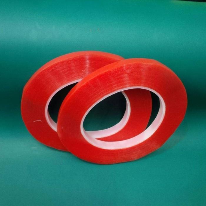 harga Double tape 10mm merah / red lem untuk touchscreen Tokopedia.com