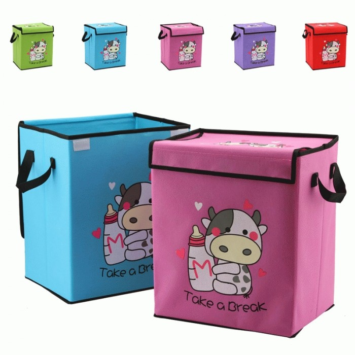 harga Cow storage box colour warna tempat pakaian mainan motif sapi Tokopedia.com