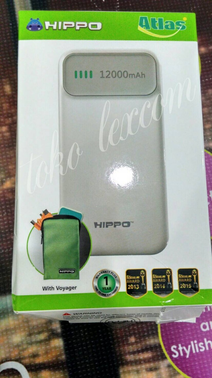 Jual Powerbank Hippo Atlas 12000mah Tas Voyagersimple Pack Simple Polymer Cell Power Bank
