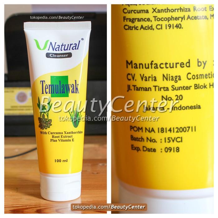 Facial Foam / Cleanser Temulawak V Natural Original / BPOM Resmi