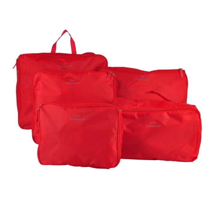 Bags in Bag: Travel Organizer Set 5 pcs/set Color Red - Abu-abu