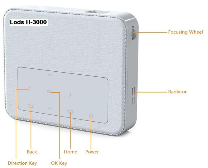harga Lods H3000 Mini Wifi Bluetooth Dlp Pocket Projector Android + Battery. Tokopedia.com