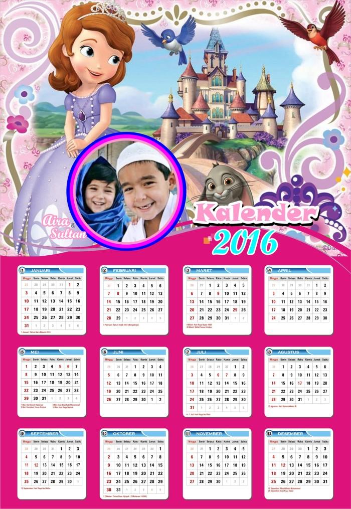 Jual kalender anak / kalender ultah / kalender karakter ...