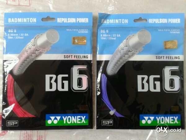 harga Senar raket bulutangkis badminton yonex bg6 ! 100% ori yonex sunrise Tokopedia.com