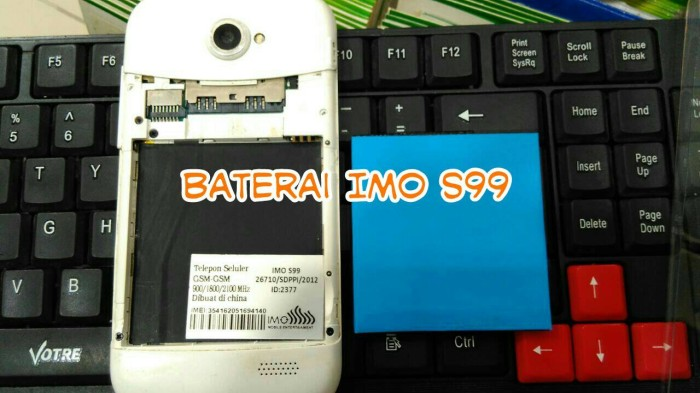 Baterai batre batere battery imo s99 ocean compatible