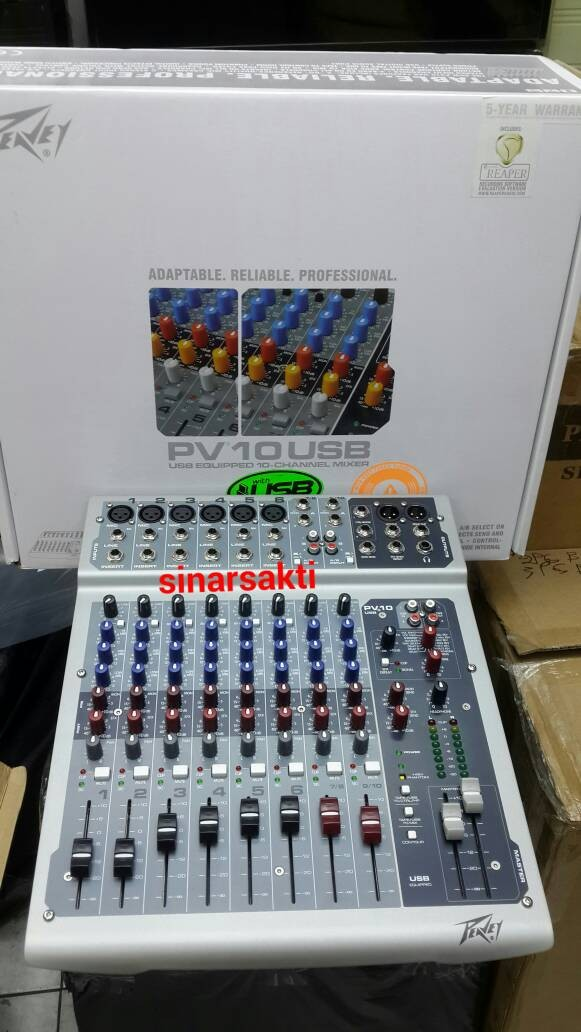 harga Mixer peavey pv 10 usb ( 10 channel ) original Tokopedia.com