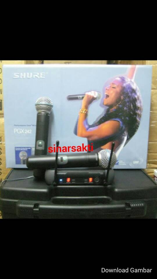 harga Mic wireless shure pgx 242 Tokopedia.com