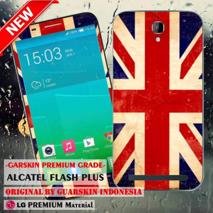 harga Garskin/skin alcatel one touch flash plus - flag england vintage Tokopedia.com