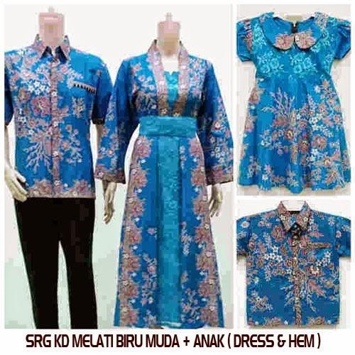 Jual Baju Batik Couple Family Sarimbit Keluarga Gamis