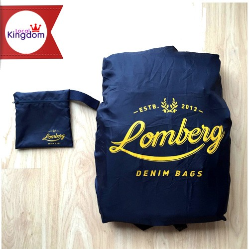 Rain Cover Bag Navy Lomberg / Pelindung Tas Ransel dari Hujan