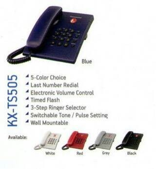 harga Panasonic kx-ts505 resmi 2tahun - telepon kantor rumah Tokopedia.com