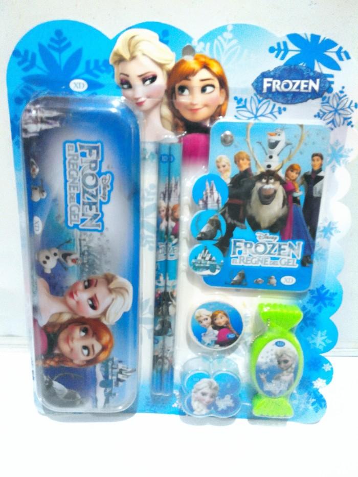 Jual Paket Alat Tulis Anak Sekolah Set Lengkap Kartun Frozen Xd